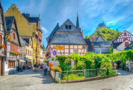 BACHARACH, GERMANY, AUGUST 16, 2018: View of a street in the center of Bacharach, Germany