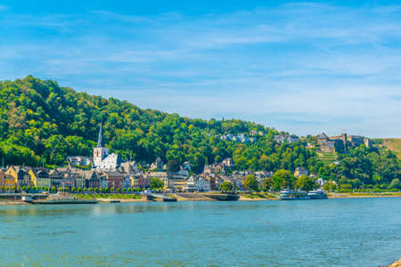 ST. GOAR, GERMANY, AUGUST 16, 2018: View of riverside promenade at St. Goar, Germany Editorial