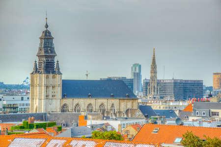 Aerial view of church of notre dame de la chapelle in Brussels, Belgium Banque d'images