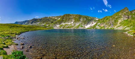 The Kidney lake, one of the seven rila lakes in Bulgaria