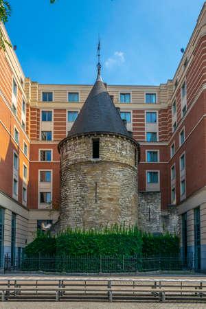 View of Black tower in Brussels, Belgium