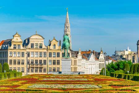 Mont des Arts park in Brussels, Belgium