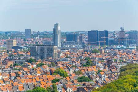 Panorama of Brussels from Koekelberg basilica in Belgium