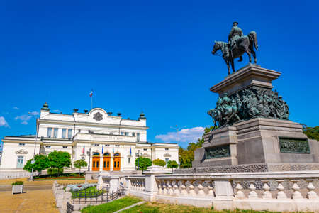 National Assembly of the Republic of Bulgaria and Statue of tsar Osvoboditel in Sofia