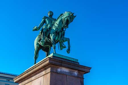 Statue of king Karl Johan in Oslo, Norway