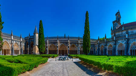 Courtyard of the Batalha monastery in Portugal