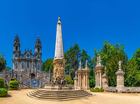 Staircase leading to the church of our lady of remedies in Lamego, Portugal