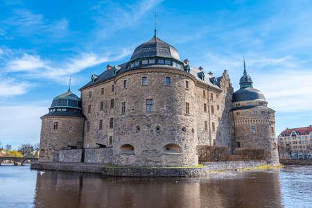 View of the Orebro castle, Sweden