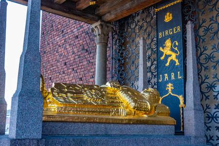 Cenotaph of Birger Jarls in Stockholm, Sweden Stock fotó