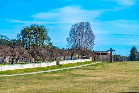 View of the Skogskyrkogarden, Unesco-listed cemetery, in Stockholm, Sweden Stock fotó
