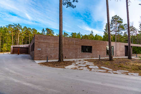 New crematory at the Skogskyrkogarden, Unesco-listed cemetery, in Stockholm, Sweden