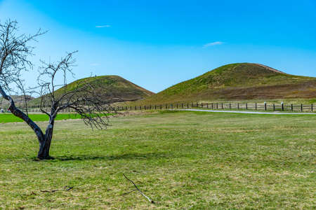 Burial mounds at Gamla Uppsala in Sweden