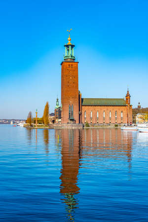 View of the town hall in Stockholm, Sweden