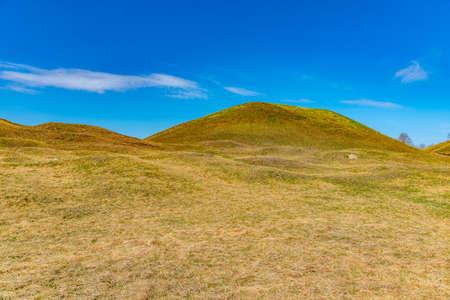 Burial mounds at Gamla Uppsala in Sweden