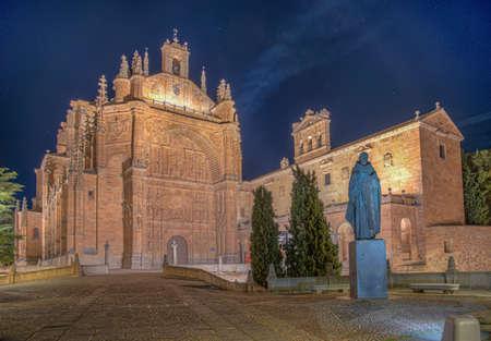 Sunset view of Convent of San Esteban at Salamanca, Spain Banque d'images