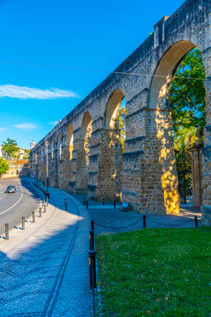 Aqueduct passing by next to the botanical garden at Coimbra, Portugal Standard-Bild