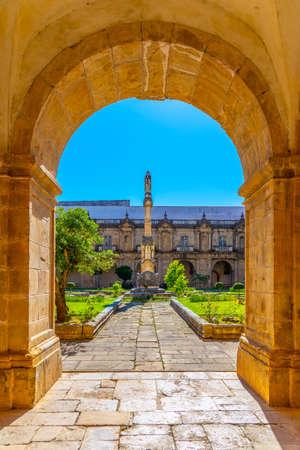 Cloister of monastery of Santa Clara a Nova at Coimbra, Portugal