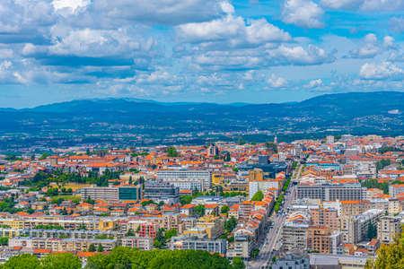 Aerial view of Braga from Monte Picoto, Portugal