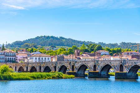 Riverside of Ponte de Lima village in Portugal