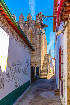 Fortification in the center of Ponte de Lima in Portugal Stock Photo