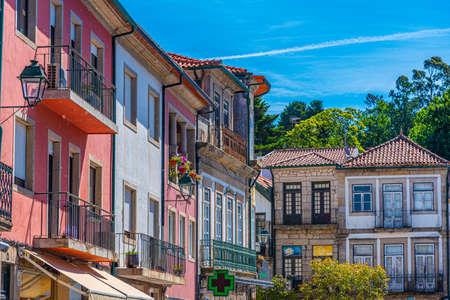 Colorful facades at Ponte de Lima in Portugal