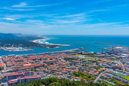 Aerial view of Viana do Castelo in Portugal