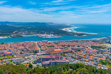 Aerial view of Viana do Castelo in Portugal Stock Photo