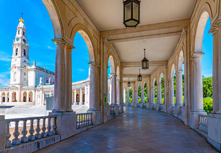 Arcade of the famous sanctuary of Fatima in Portugal