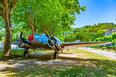 Fighter plane in a park of Leiria, Portugal