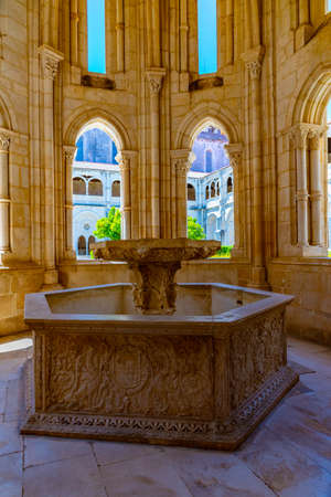 Lavabo fountain at the Alcobaca monastery in Portugal