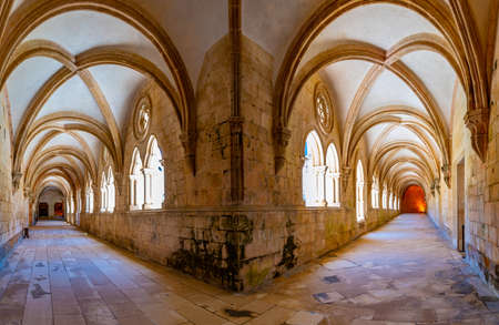 Cloister of Silence at Alcobaca monastery in Portugal