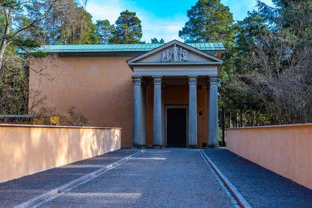 Resurrection chapel at the Skogskyrkogarden, Unesco-listed cemetery, in Stockholm, Sweden