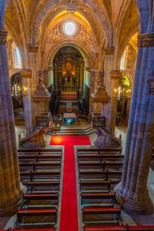 VISEU, PORTUGAL, MAY 20, 2019: Interior of the cathedral of Viseu, Portugal Stock Photo