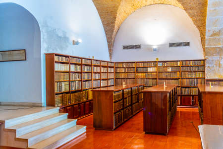 COIMBRA, PORTUGAL, MAY 21, 2019: Interior of Joanina library at the Coimbra university in Portugal Stock Photo