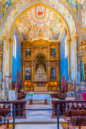 COIMBRA, PORTUGAL, MAY 21, 2019: Chapel of Sao Miguel at the Coimbra university in Portugal
