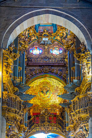 BRAGA, PORTUGAL, MAY 23, 2019: Interior of the old cathedral in Braga, Portugal Stock Photo