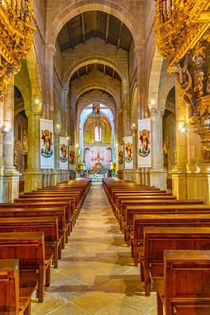BRAGA, PORTUGAL, MAY 23, 2019: Interior of the old cathedral in Braga, Portugal