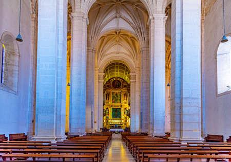 LEIRIA, PORTUGAL, MAY 27, 2019: Interior of cathedral of Leiria, Portugal