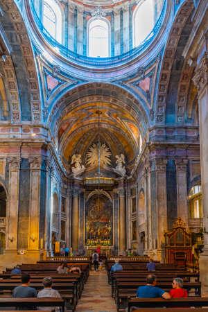 LISBON, PORTUGAL, JUNE 1, 2019: Interior of the basilica da estrela in Lisbon, Portugal Stock Photo