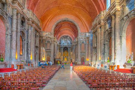 LISBON, PORTUGAL, JUNE 1, 2019: Interior of the church of saint dominic in Lisbon, Portugal