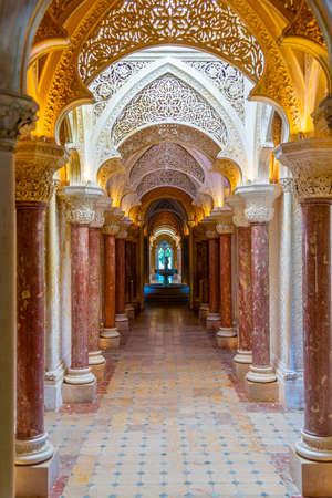 SINTRA, PORTOGALLO, 30 MAGGIO 2019: Interno del Palazzo di Monserrate a Sintra, Portogallo