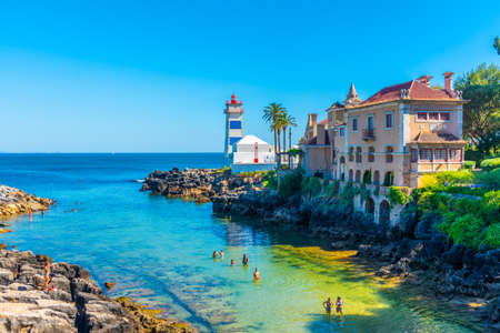 CASCAIS, PORTUGAL, MAY 31, 2019: Santa Marta lighthouse museum in Portuguese city Cascais