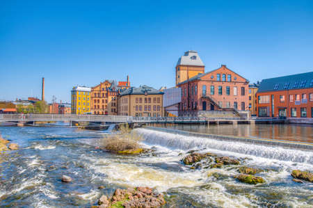 River rapids in the industrial center of Norrkoping, Sweden