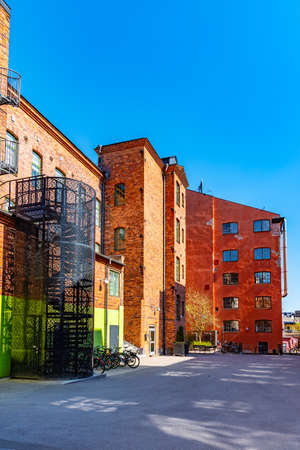 Industrial buildings of formerly prospering textile industry are being revitalized in Norrkoping, Sweden Sajtókép