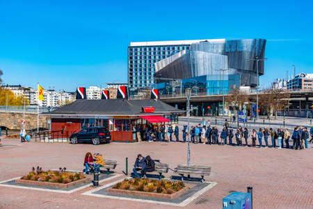 STOCKHOLM, SWEDEN, APRIL 21, 2019: View of the Waterfront conference center in Stockholm, Sweden