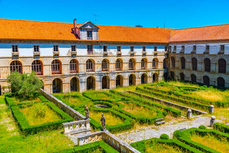 Levada cloister at Alcobaca monastery in Portugal Éditoriale