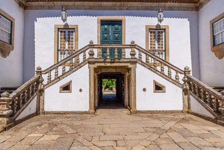 Gardens and Casa de Mateus estate in Portugal