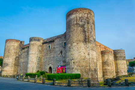 Castello Ursino in Catania, Sicily, Italy Éditoriale
