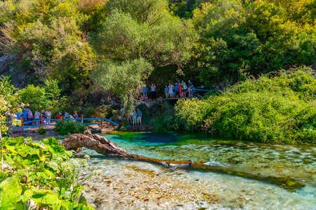 Blue eye spring near Sarande, Albania