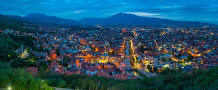 Night view of City of Prizren in Kosovo